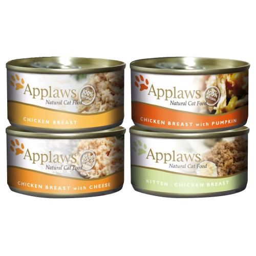 Applaws Meaty Tins Wet Cat Food 70g x 6 - Chicken