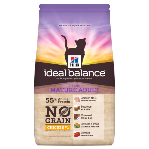 Hills Ideal Balance No Grain Chicken & Potato Mature Adult Cat Food