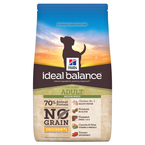Hills Ideal Balance No Grain Chicken & Potato Adult Dry Dog Food 12kg