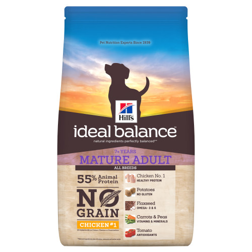 Hills Ideal Balance No Grain Chicken & Potato Mature Adult Dry Dog Food 12kg