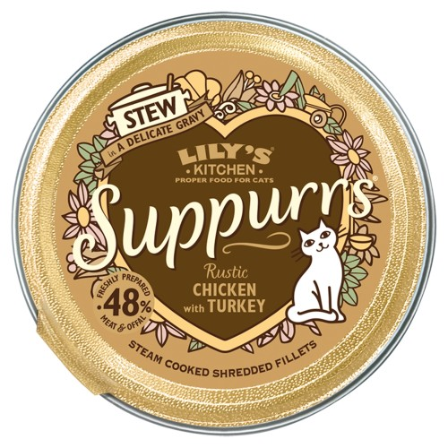 Lilys Kitchen Suppurrs Rustic Chicken with Turkey Stew Wet Cat Food
