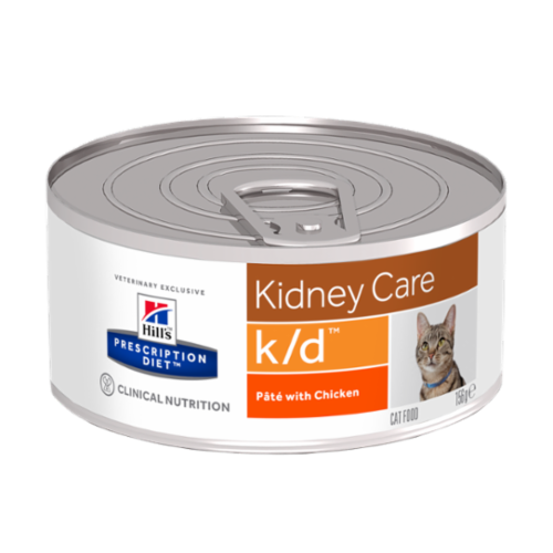Hills Prescription Diet Feline KD Canned Chicken 156g x 24