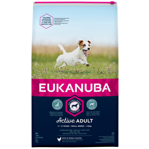 Eukanuba Active Adult Chicken Small Breed Adult Dog Food 2kg
