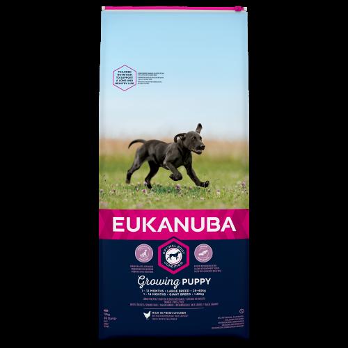 Eukanuba Growing Puppy Chicken Large Breed Puppy Food 12kg x 2