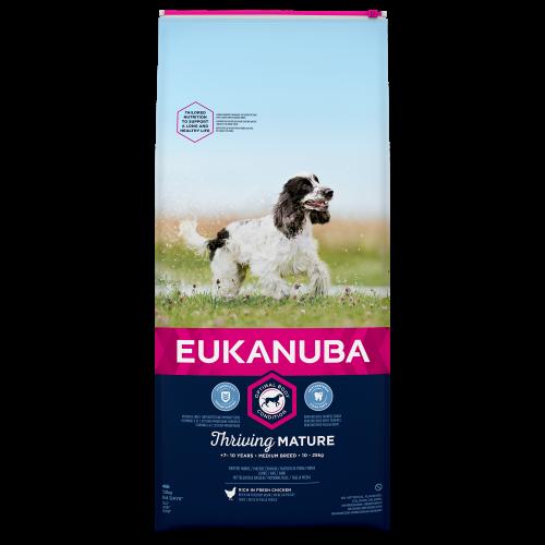 Eukanuba Thriving Mature Chicken Medium Breed Dog Food 12kg