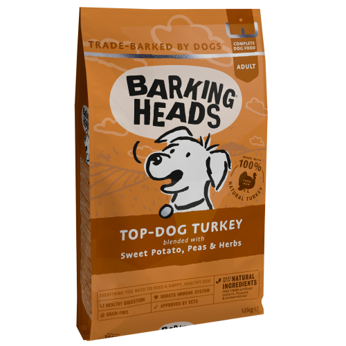 Barking Heads Top Dog Turkey Grain Free Adult Dog Food 12kg