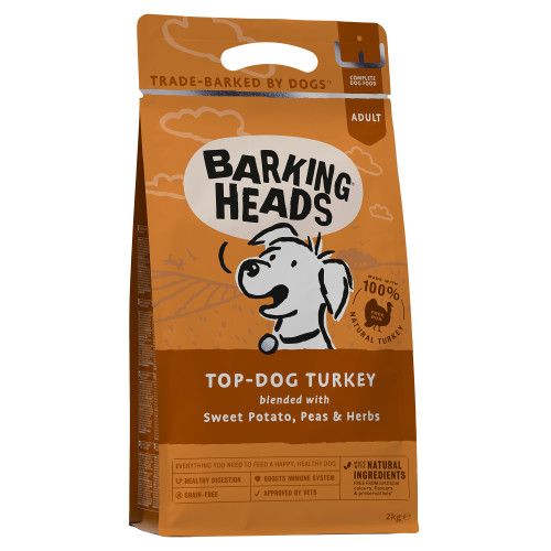Barking Heads Top Dog Turkey Grain Free Adult Dog Food