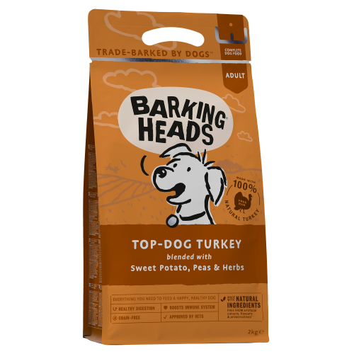 Barking Heads Top Dog Turkey Grain Free Adult Dog Food 2kg