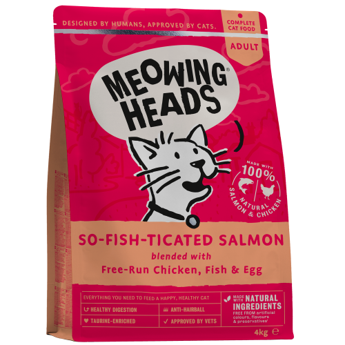 Meowing Heads So-Fish-Ticated Salmon Adult Cat Food 4kg