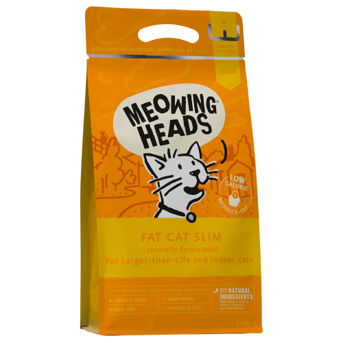 Meowing Heads Fat Cat Slim Adult Cat Food 1.5kg x 4