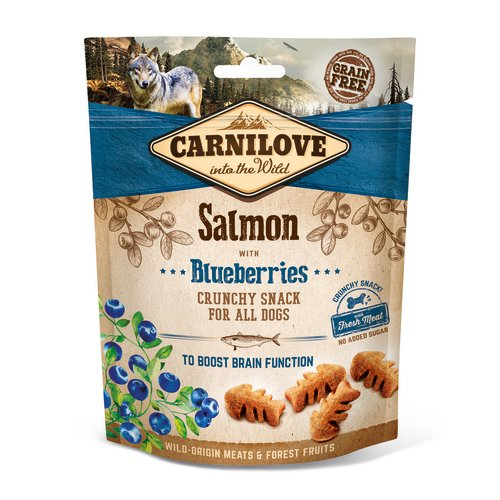 Carnilove Crunchy Salmon and blueberries with Fresh Meat Dog Treat 200g
