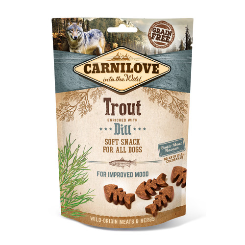 Carnilove Semi-moist Snack Trout with Dill Dog Treat 200g