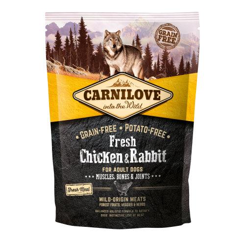 Carnilove Fresh Chicken & Rabbit Dry Adult Dog Food 1.5kg