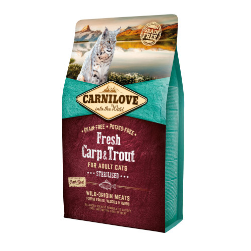 Carnilove Fresh Carp & Trout Dry Adult Cat Food 2kg