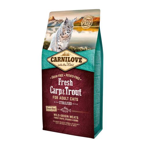 Carnilove Fresh Carp & Trout Dry Adult Cat Food 6kg x 2