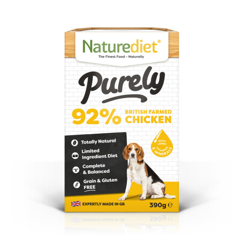 Naturediet Purely British Farmed Chicken Wet Adult Dog Food Trays