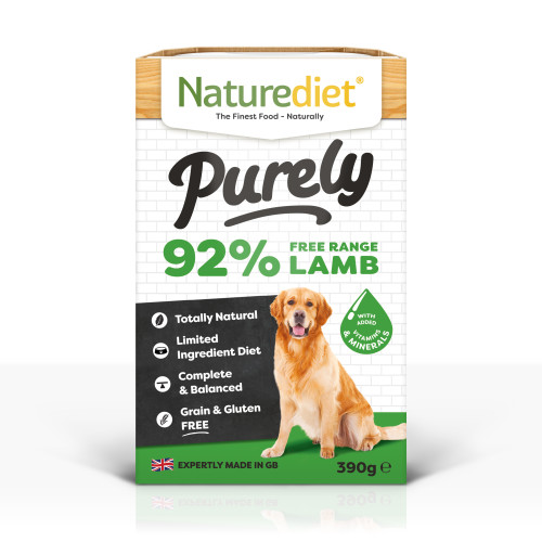 Naturediet Purely Free-range Lamb Wet Adult Dog Food Trays
