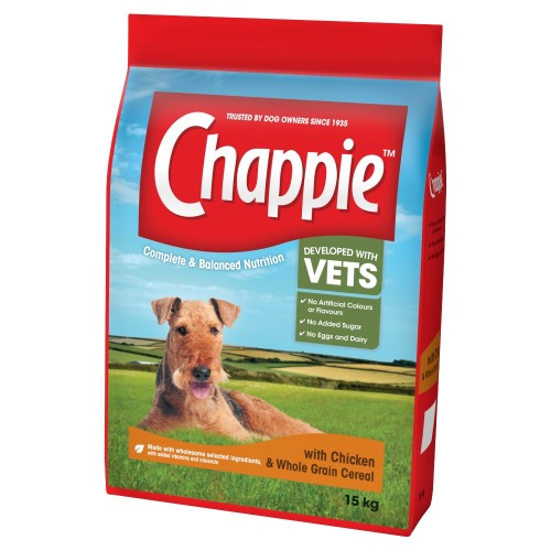 Chappie Chicken & Wholegrain Cereal Adult Dry Dog Food 15kg x 2