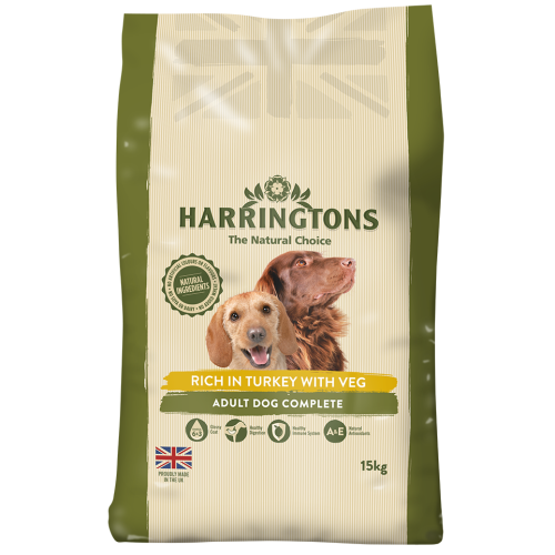 Harringtons Turkey & Veg Adult Dog Food 15kg