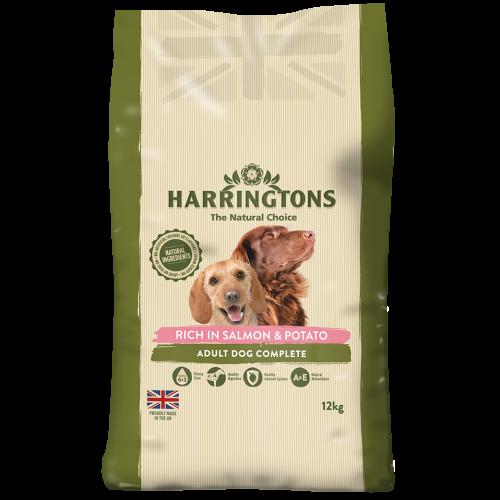 Harringtons Salmon & Potato Adult Dog Food 12kg x 2