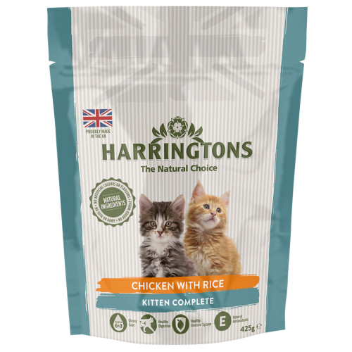 Harringtons Complete Chicken with Rice Kitten Food