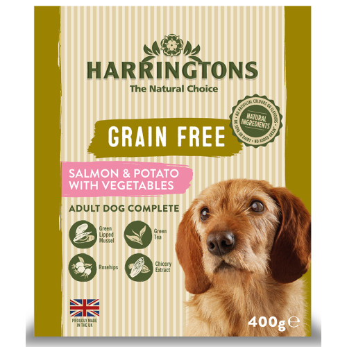 Harringtons Grain Free Salmon & Potato Adult Wet Dog Food