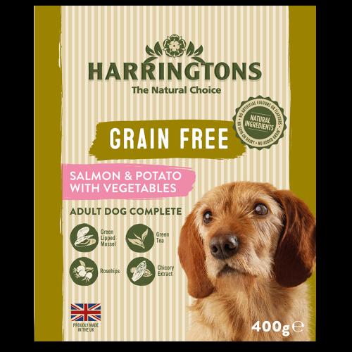 Harringtons Grain Free Salmon & Potato Adult Wet Dog Food 400g x 8