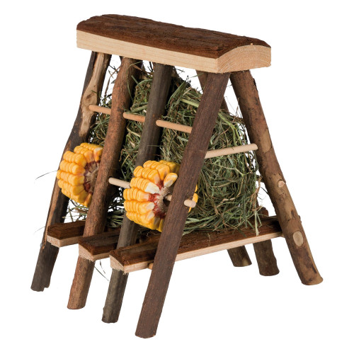 Trixie Hay Manger with Hay & Seed Rings for Small Pets