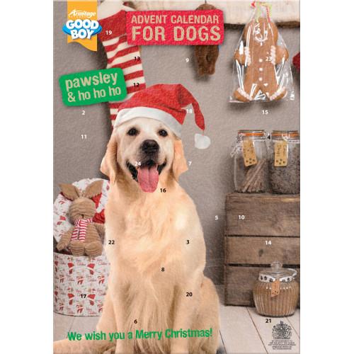 good boy christmas dog advent calendar from. Black Bedroom Furniture Sets. Home Design Ideas