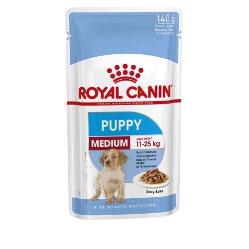 Senior Medium Wet Puppy Food Pouches in Gravy