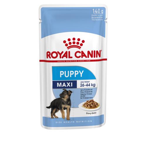 Royal Canin Maxi Wet Puppy Food Pouches in Gravy