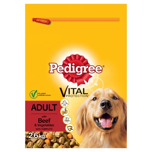 pedigree vital protection beef adult dog food from waitrose pet. Black Bedroom Furniture Sets. Home Design Ideas