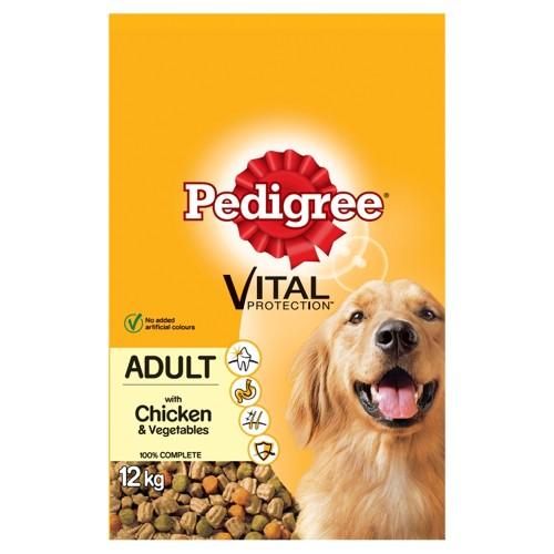 Pedigree Vital Protection Chicken & Vegetables Dry Adult Dog Food 12kg x 2
