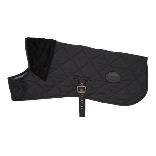 Barbour Quilted Dog Coat in Black Extra Small