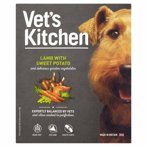 Vets Kitchen Lamb with Sweet Potato Grain Free Wet Adult Dog Food