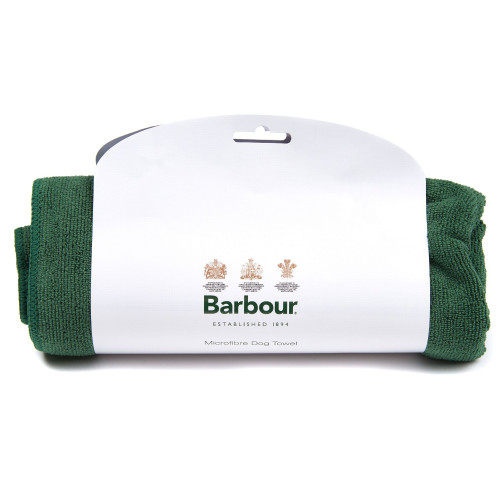 Barbour Micro Fibre Dog Towel in Green One Size