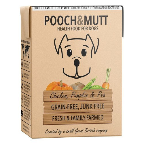 Pooch & Mutt Chicken Pumpkin and Peas Adult Wet Dog Food Cartons