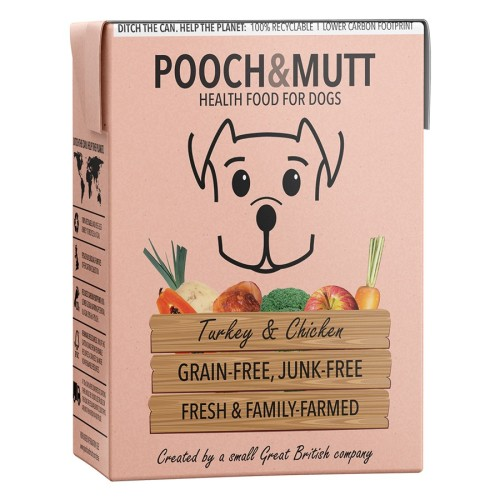 Pooch & Mutt Turkey & Chicken Wet Dog Food Cartons