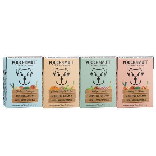 Pooch & Mutt Multipack Adult Wet Dog Food Cartons 375g x 12