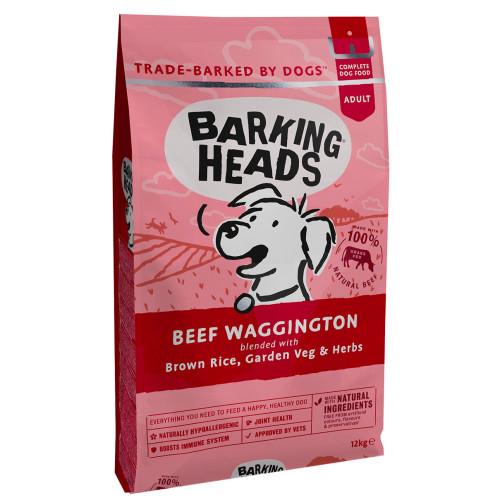 Barking Heads Beef Waggington Adult Dog Food 12kg x 2
