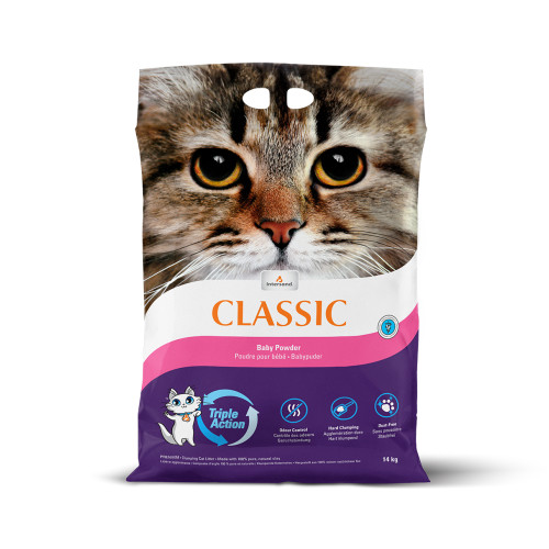 Intersand City Classic Baby Powder Clumping Cat Litter