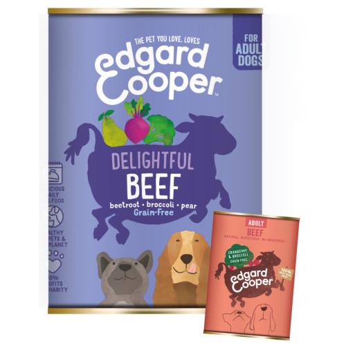 EdgardCooper Beef Grain Free Wet Adult Dog Food