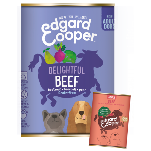 Edgard & Cooper Beef Grain Free Wet Adult Dog Food 400g x 6