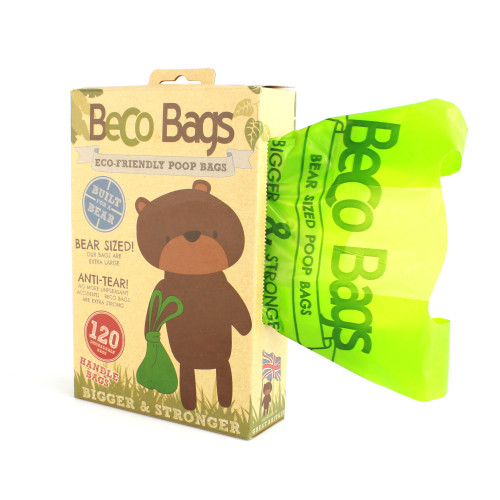 BecoBags Eco Friendly Poo Bags 120 Bags with Tie Handles