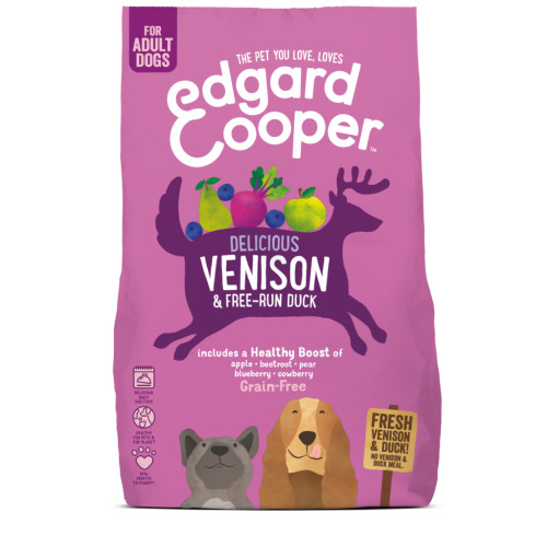 EdgardCooper Venison & Duck Grain Free Adult Dog Food