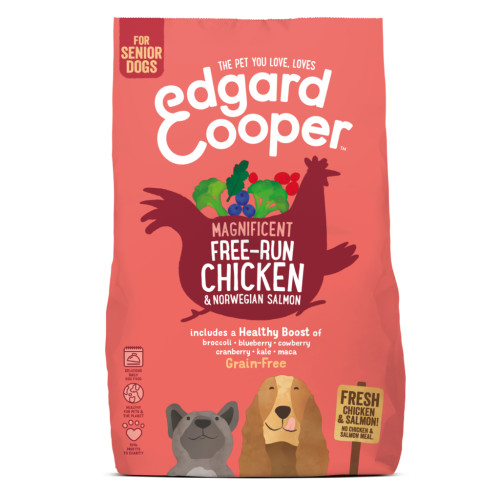EdgardCooper Chicken & Norwegian Salmon Grain Free Senior Dog Food