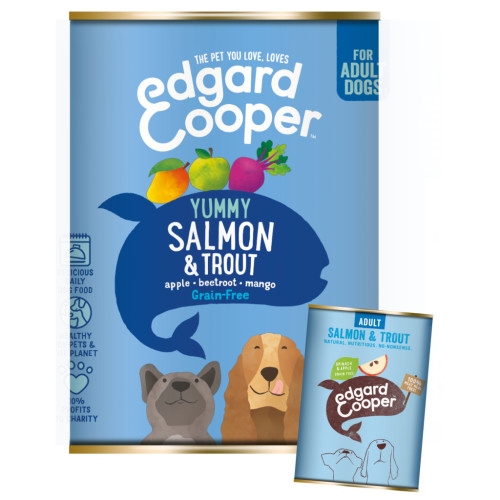 EdgardCooper Salmon & Trout Grain Free Wet Adult Dog Food