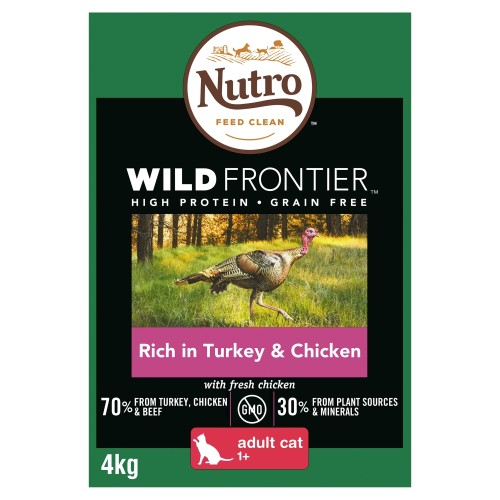 Nutro Wild Frontier Turkey & Chicken Dry Adult Cat Food