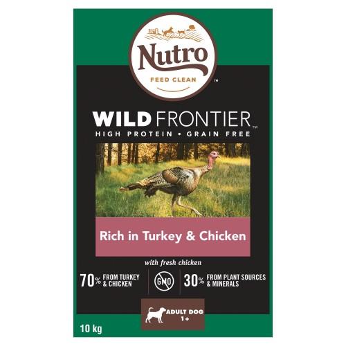 Nutro Wild Frontier Turkey & Chicken Dry Medium Adult Dog Food 10kg