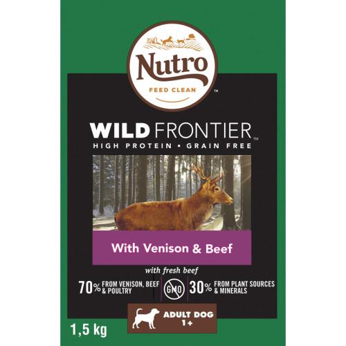 Nutro Wild Frontier Venison & Beef Dry Medium Adult Dog Food 1.5kg
